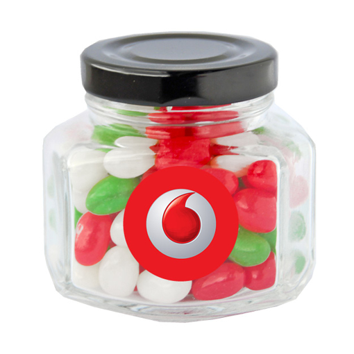 Picture of Mini Screw Top Jar with mini Xmas jelly beans