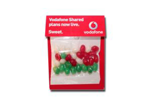Picture of Billboard Candy Card 30g  Christmas beans