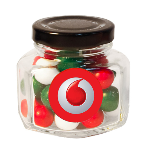 Picture of Mini Screw Top Jar  with Xmas choc balls