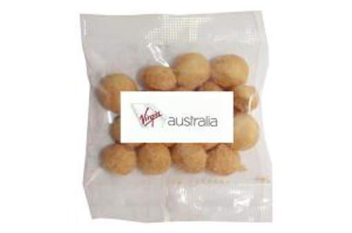 Picture of Wasabi Macadamias in 30g Bag