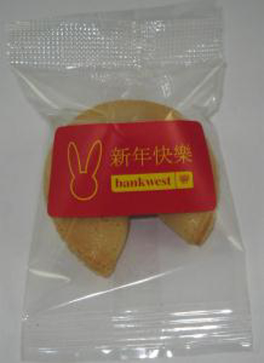 Picture of Fortune Cookies with customised messages & label