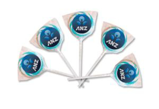 Picture of Lollipops Swirl - 40mm dia. - Blue & White