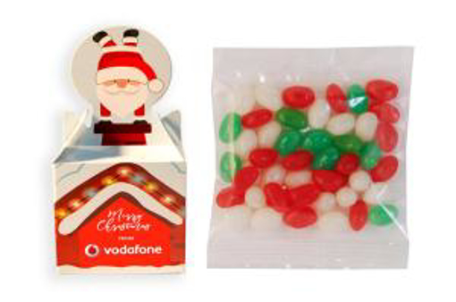 Picture of Santa Box with 50g Unbranded Christmas Mini Jelly Beans