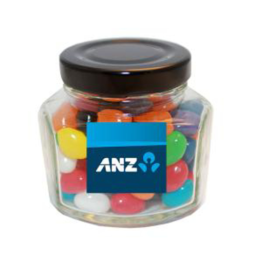 Picture of Mini Screw Top Jar with mini mixed jelly beans