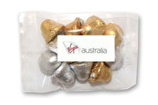 Picture of Branded Christmas Bells in 100g Cello Bag