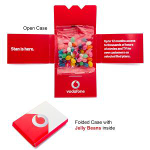 Picture of Kit Kat Christmas case with 30g Bag Mini Jelly Beans in Xmas colours