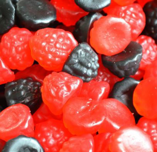 Picture of Gummy Blackberries & Raspberries 100g