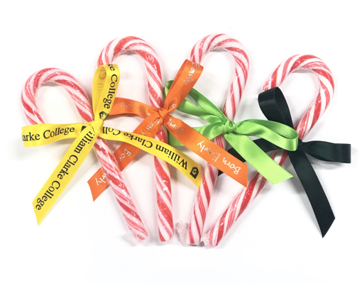 Picture of Candy Cane with a Printed ribbon