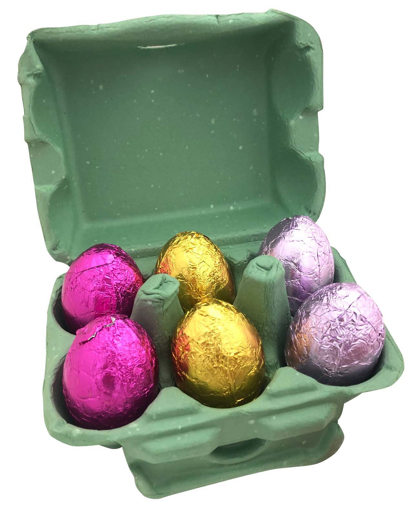 Picture of 17g Hollow Easter Eggs in Coloured Egg Carton